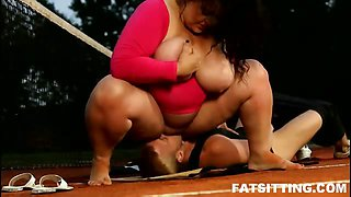 BBW domination with face-fucking
