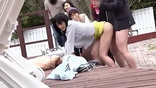 Japanese outdoor fuck