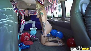 Stella Raee is getting her Bangbus experience from a guy she fell in love with