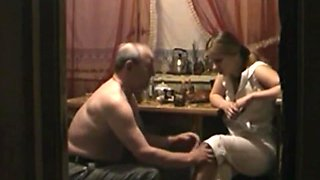 Granddaughter drunk and fucked grandpa. Russian. Amateur