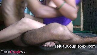 Telugu Aunty In Blue Sexy Night Having Amazing Rough Sex