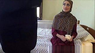 Poor Arab Whore Desperate For Money Fucks Huge White Cock