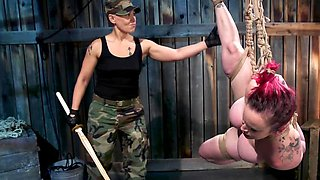 Strapon is mistress' favorite toy so she penetrates slave