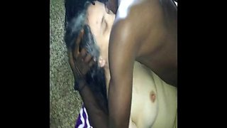 Cheating white girl wife takes black man strangers creampie