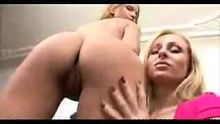 Classic foot fetish busty blonde ass fuck