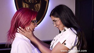 Julia De Lucia and her girlfriend get naughty