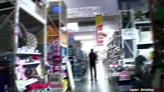 Amateur Japanese Girl Flashing Her Naked Body Inside A Store 00:59