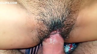 After cumshot again in her tight pussy - GF 18 years young Thai get sperm