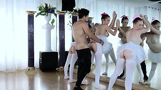 Teen punished by tutor Ballerinas