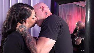Big titty slut Samantha Mack likes it rough