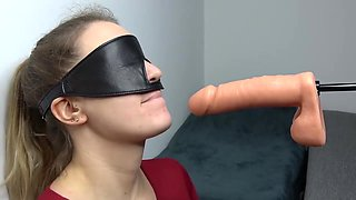 ROUGH Face Fucking by Fuck Machine as Punishment and Daily Blowjob Training