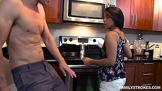 Startling Brunette aroused with fingering ahead roughly fucked with a big stiff pecker