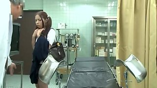 Medical examination with hot Asian vixen being fucked by hung doctor