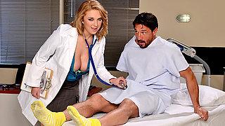 Busty doctor Brooke Wylde fucks patient