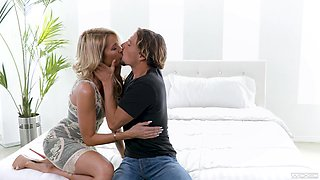 Beautiful elegant MILF having a romantic sex with a young man