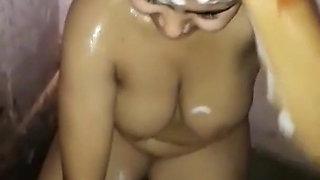 Newly Married Bhabhi's Bath Video