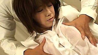 Subtitles Japanese office lady big breast drool fest