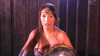 Japanese wonder woman defeated &amp forced to fuck
