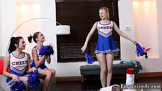 Out of the family teen Looks like the cheer squad is going t