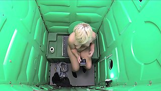 This cutie has fun today in our Porta Potty Gloryhole. She