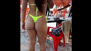 Beach voyeur spies on pretty amateur girls in sexy bikinis