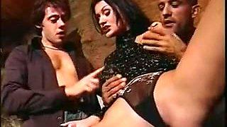 Euro fuckfest blowjob movie with horny brunette slut