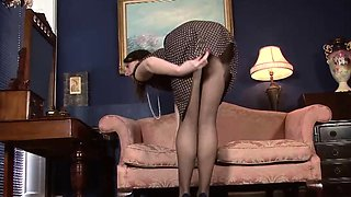 A Nasty Redhead Housewife in Pantyhose