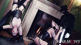 Two big tits British sluts love sharing big cock