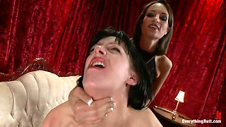 Hot Lesbains Having A Strap-on Kinky Game