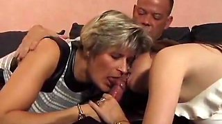 Hot Foursome - Mature and college girl