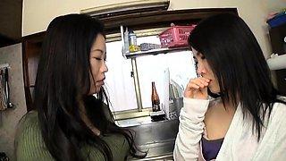 Sweet Japanese girls bring their lesbian fantasy to life