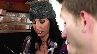 Cheating mature wife fucked by house guest