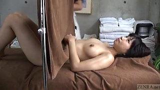 Subtitled CFNF ENF Japanese lesbian massage clinic oral