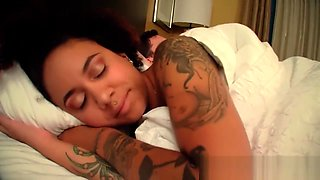 BWWM Step sister and brother fuck sharing bed Kingsley and Aiden Valentine