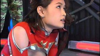 Cute Asian teen in a sexy uniform gets treated like a slut