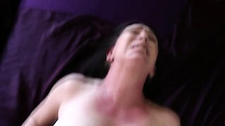 Milf swallows cum pov