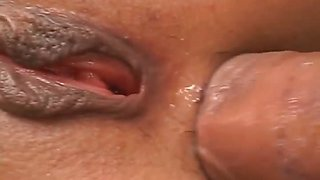 Ibukis shaved pussy fingered and fucked before her tight
