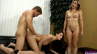 Molly is Fucked by Her New Stepfather and STepbrother