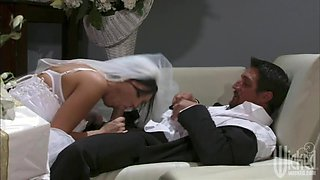 Sensual Brunette Bride Dylan Ryder Gets Fucked Cowgirl and Doggy Style