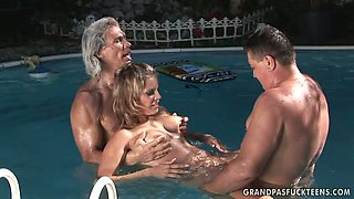NASTY LARAAN IN THE POOL. Part 3
