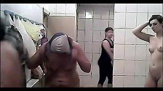Hidden cam in the public bath locker room for ladies