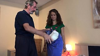 Old Young Beautiful teen maid fucked b ugly old grandpa