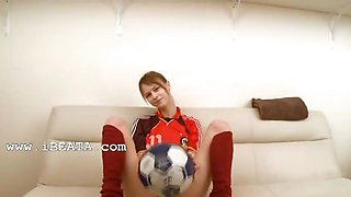 Beata german player teasing on the bed
