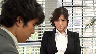 Crazy Japanese model Anri Okita in Amazing Big Tits, Secretary JAV clip