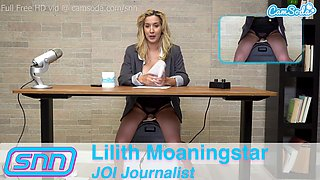 Camsoda - JOI reporter Lilith Moaningstar masturbating