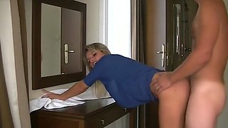 Horny MILF Has A Quickie And Cum Swallow