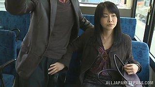 Hidden Handjob On The Bus