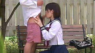 Cute Japanese Girl  In Voyeur Sex Outdoor