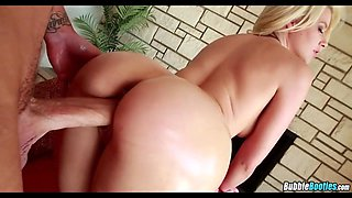Super Oiled up Blonde Ass