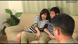 Japanese Cuckold Shared Wife Fucked from Doggy Style